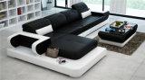 Modernes Form-Leder-Sofa der Wohnzimmer-Möbel-U (HC1106)