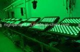 Lavata esterna della parete di illuminazione IP65 72*10W RGBW LED 4in1 della proiezione della costruzione