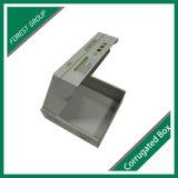 El anuncio publicitario acanalado de empaquetado de la insignia de encargo de los rectángulos encajona el material reciclable