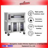 De nieuwe Commerciële Oven van het Roestvrij staal met Proofer