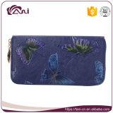 Бумажник застежки -молнии высокого качества бумажника женщин конструкции бабочки черного бумажника PU цвета кожаный специальный