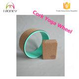 Soft Cork Yoga Wheel com tubo ABS com segurança Suporta 500 Lbs