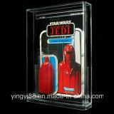 Caso de exhibición de acrílico de encargo para la vendimia Carded Star Wars