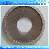 Disco del filtro de acoplamiento de alambre de Weleded del punto