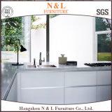 Module de cuisine en bois de meubles de laque à haute brillance blanche moderne de couleur