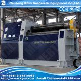 Quente! Rolos da máquina de rolamento quatro da placa da máquina do CNC, especializados na folha do rolamento, fábrica Mclw12CNC-25X3000 de Nantong