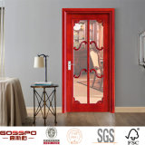 Дверь ванной комнаты деревянная нутряная с матированным стеклом (GSP3-012)