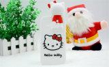 Черный белый красный случай мобильного телефона силикона кота киски (XSK-011)