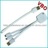 Aprovaçã0 nova 3 de Mfi em 1 cabo cobrando dos dados do USB para iPhone6/Samsung