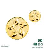 L'oro su ordinazione ha placcato la moneta dell'Europa impressa metallo in bianco