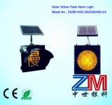 Jaune solaire avertissement clignotant / jaune solaire voyant / solaire lumière clignotante