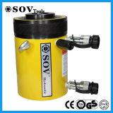 Cilindro hidráulico Certificated ISO do atuador oco ativo do dobro do CE (SV22Y)