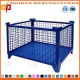 スタック可能折る鋼鉄倉庫の貯蔵容器の金網のケージ(Zhra27)