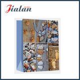 Bolsa de papel de piedra Pie-Shaped del regalo de la mano de las compras del papel revestido