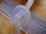 Vara quente adesiva da colagem do silicone branco leitoso para o PVC