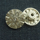 Золото способа плакировкой извлекает кнопку металла износа джинсыов