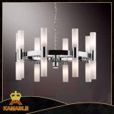 Dispositivos elétricos de iluminação de vidro contemporâneos do pendente do projeto extravagante luxuoso (KA6412-16A)