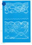 Merletto non elastico per vestiti/indumento/pattini/sacchetto/caso F2071 (larghezza: 1.4CMM a 24cm)