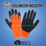 перчатки померанцового акрилового латекса черноты вкладыша 7g покрытые