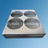 削られたひれ脱熱器、300 x 240 x 32mmのAl、洗浄、アクセサリは1脱熱器カバー土台4PCS 120mmのファンである