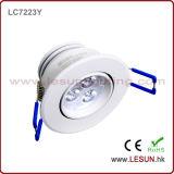 Ce e diodo emissor de luz da aprovaçã0 3W de RoHS sob a luz da lâmpada do gabinete