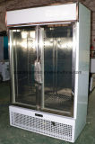 Refrigerador bonito do indicador da porta do vidro de vista