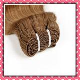 Heißer Verkaufs-peruanisches Bündel-Haar, das wellenförmiges Haar-tiefe Welle 16inches spinnt
