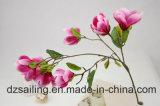 Fleur artificielle de décoration de qualité du jet de magnolia (SW04802)