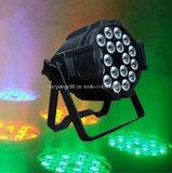 Het PARI van het LEIDENE Gezoem 18X10W RGBW van PAR64 4in1 kan Licht wassen