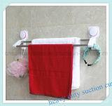 Установленный стеной шкаф хранения держателя рельса полотенца ванной комнаты с двойной штангой