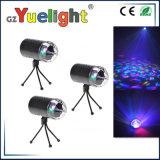 LEDの三カラー水晶回転球