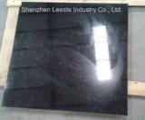 Granit noir pur absolu de bonne qualité de tuile de mur de la Chine