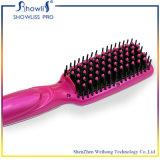 Vente chaude de peigne de cheveu droit d'anion de redresseur de cheveu de qualité de cadeau de beauté redressant le balai avec le balai électrique d'écran LCD
