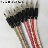 cable audio trenzado de nylon de 3.5m m Gato
