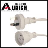 3-Pin Energien-Kabel-heißes verkaufenextensions-Netzkabel des Stecker-240V weißes Australien