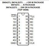 D-Tipo ottale flip-flop con il circuito integrato libero di CI Sn74ls273n