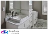 Biancoカラーラの浴室の白い大理石のカウンタートップのための大理石の浴室の虚栄心の上