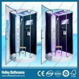 Nueva cabina de ducha con diseño de rueda de rodillo doble bisagra para puertas corredizas (SR216B)