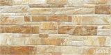 telha rústica de pedra cerâmica da parede 3D exterior para ao ar livre (300X600mm)