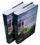 Impression ronde polychrome de livre À couverture dure d'épine