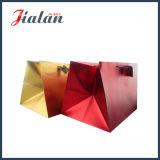 Bolso de compras de papel de lujo mate metálico de la alta calidad