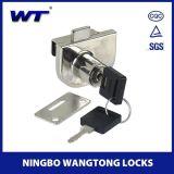 Wangtongの高品質亜鉛合金のFramelessのガラスドアロック
