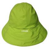 Casquillo/impermeable Amarillento-Verdes de /Rain del sombrero de la lluvia de la PU para el adulto