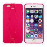 더하기 iPhone 6/6를 위한 Foldable 홀더 TPU 이동 전화 상자