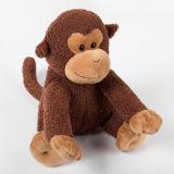 도매 아기 연약한 동물성 견면 벨벳 브라운 원숭이에 의하여 채워지는 장난감