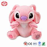 Stuk speelgoed van de Pluche van het Embleem van de Kwaliteit van de Zitting van de steek het Roze Zachte Gevulde