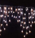 Cable de PVC LED de luz de la secuencia del carámbano luz de hadas