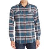 Plaid-Form-Smokinghemde der kundenspezifischen Form-Baumwollmänner