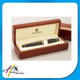 Contenitore di imballaggio di legno di marca della visualizzazione di lusso della penna con il rivestimento della pelle scamosciata del velluto