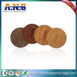 Cercle antique fait sur commande respectueux de l'environnement coupant la carte en bois des affaires NFC/carte vierge